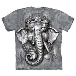 『摩達客』[預購] 美國進口【The Mountain】自然純棉系列 象頭神臉 設計T恤