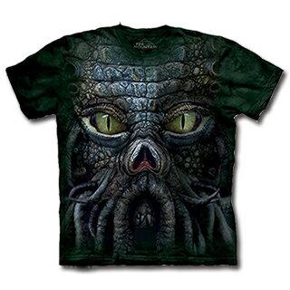 『摩達客』(預購) 美國進口【The Mountain】自然純棉系列  邪神克蘇魯臉  設計T恤