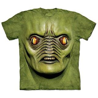 『摩達客』[預購] 美國進口【The Mountain】自然純棉系列 星際綠臉怪 設計T恤