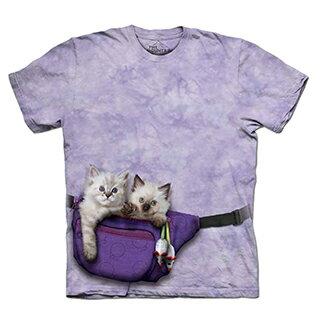 『摩達客』[預購-大尺碼3XL] 美國進口【The Mountain】自然純棉系列  腰包小貓 設計T恤