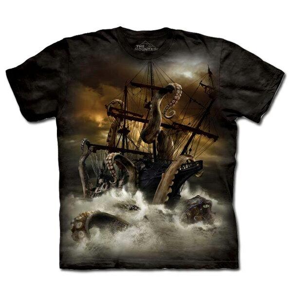 『摩達客』(預購) 美國進口【The Mountain】自然純棉系列 大海怪 設計T恤