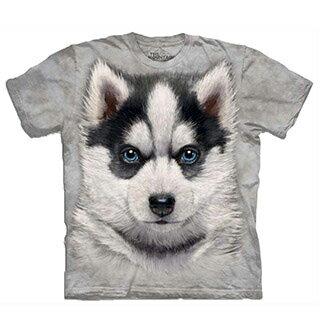 『摩達客』[預購] 美國進口【The Mountain】自然純棉系列 小哈士奇犬 設計T恤