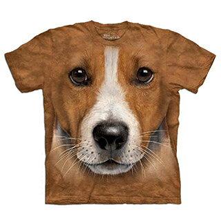 『摩達客』[預購] 美國進口【The Mountain】自然純棉系列 傑克羅素梗犬臉 設計T恤