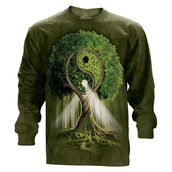 【摩達客】(預購)美國進口The Mountain 陰陽村 純棉長袖T恤