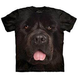 【摩達客】(現貨)美國進口The Mountain 紐芬蘭犬臉 純棉環保短袖T恤