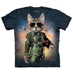 【摩達客】(預購)美國進口The Mountain 湯姆克魯貓 純棉環保短袖T恤