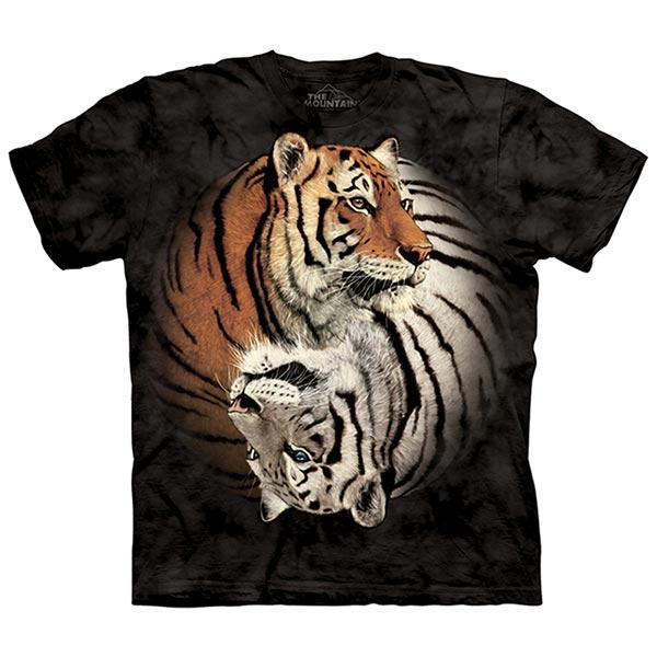 【摩達客】(預購)(大尺碼3XL)美國進口The Mountain 陰陽虎 純棉環保短袖T恤