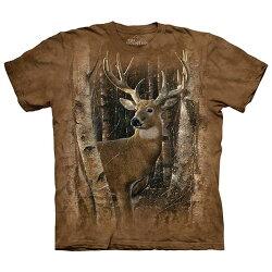 【摩達客】(預購)(大尺碼3XL)美國進口The Mountain 樺木與鹿 純棉環保短袖T恤