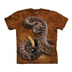 【摩達客】(預購)(大尺碼3XL)美國進口The Mountain 響尾蛇 純棉環保短袖T恤