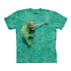 【摩達客】(預購)(大尺碼3XL)美國進口The Mountain 攀岩變色龍 純棉環保短袖T恤