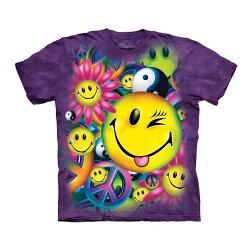 【摩達客】美國進口The Mountain 和平與笑臉 純棉環保短袖T恤
