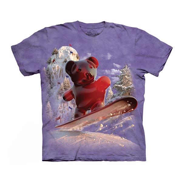 【摩達客】(預購)美國進口The Mountain 滑雪軟糖 純棉環保短袖T恤
