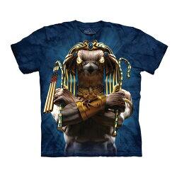 【摩達客】(預購)美國進口The Mountain 埃及鷹戰士 純棉環保短袖T恤