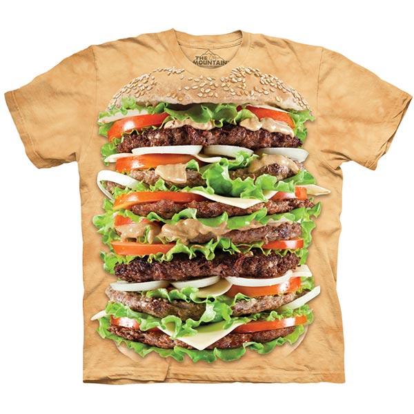 【摩達客】(預購)美國進口The Mountain 巨無霸漢堡 純棉環保短袖T恤