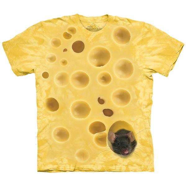 【摩達客】(預購)(大尺碼3XL)美國進口The Mountain 老鼠愛起司 純棉環保短袖T恤