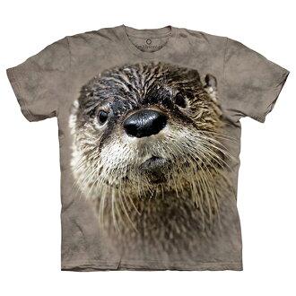 【摩達客】(預購)美國進口The Mountain Smithsonian系列北美水獺 純棉環保短袖T恤