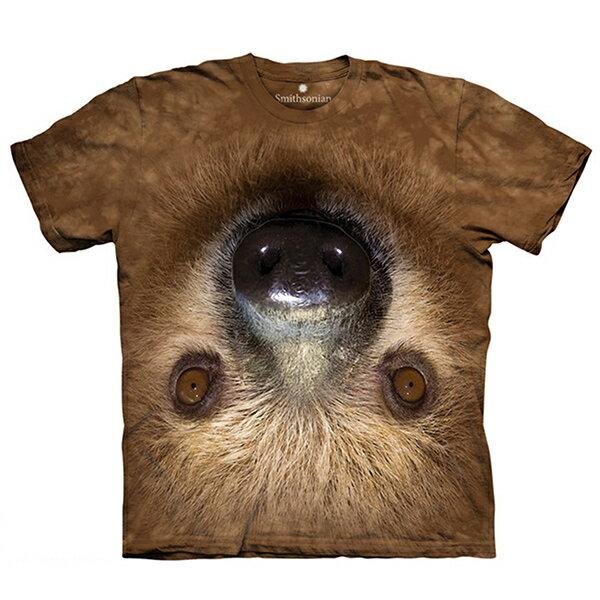 【摩達客】(預購)美國進口The Mountain Smithsonian系列顛倒樹懶 純棉環保短袖T恤