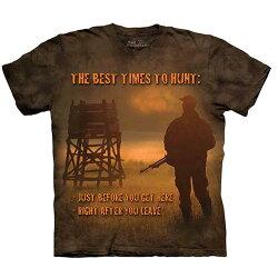 【摩達客】(預購)美國進口The Mountain Life戶外系列  狩獵最佳時刻 純棉環保短袖T恤
