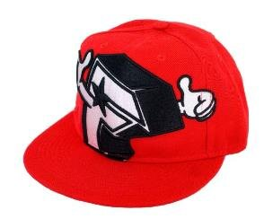 『摩達客』美國進口人氣品牌【Famous Stars and Straps】潮流嘻哈紅色F讚棒球帽