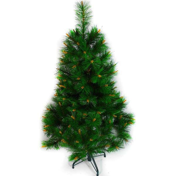 台灣製 4呎/4尺(120cm)特級綠松針葉聖誕樹裸樹 (不含飾品)(不含燈)YS-NPT04001