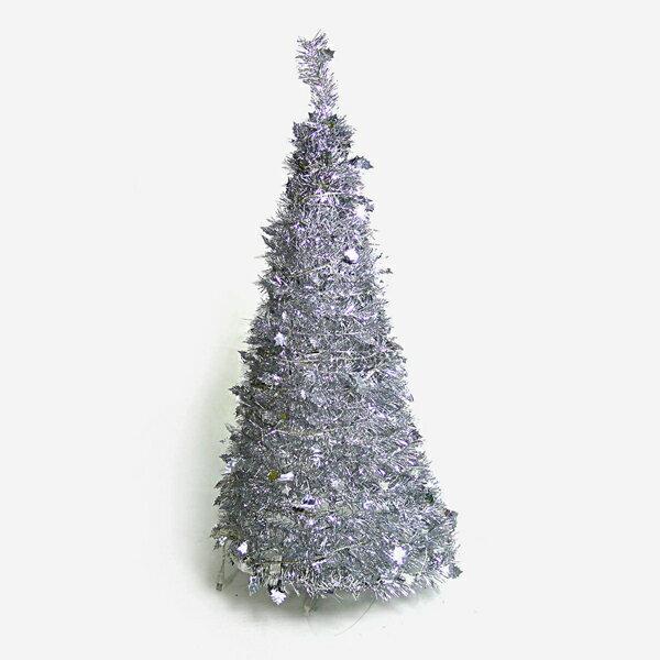 4尺/4呎(120cm) 創意彈簧摺疊聖誕樹 (銀色系)YS-FTR04002