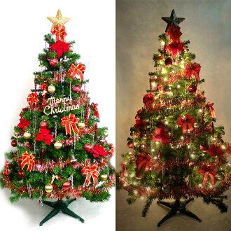 『摩達客冬季生活限定』台灣製15尺/15呎(450cm)豪華版裝飾聖誕樹 (+紅金色系配件組)(+100燈樹燈12串)本島免運費