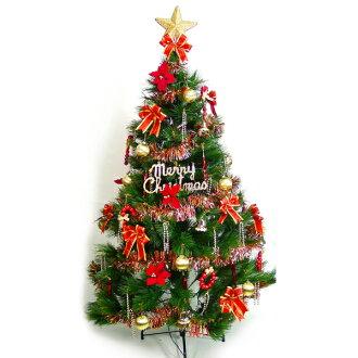 台灣製10呎/10尺 (300cm)特級綠松針葉聖誕樹 (+紅金色系配件組)(不含燈)YS-GPT010001