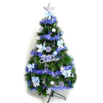 台灣製10呎/10尺 (300cm)特級綠松針葉聖誕樹(+藍銀色系配件組)(不含燈)YS-GPT010002