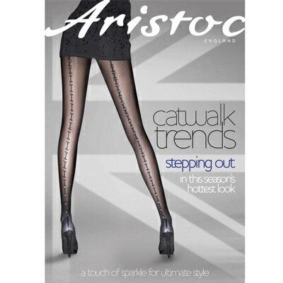 『摩達客』英國進口Aristoc 時尚後直線銀縫彈性絲襪
