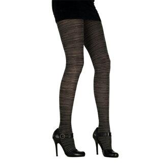 『摩達客』英國進口Pretty Polly 黑灰橫紋彈性褲襪