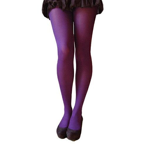 『摩達客』英國進口【Pretty Polly】60D丹尼彩色彈性褲襪(深紫色)