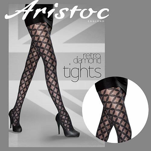 『摩達客』英國進口【Aristoc】星條格紋設計褲襪
