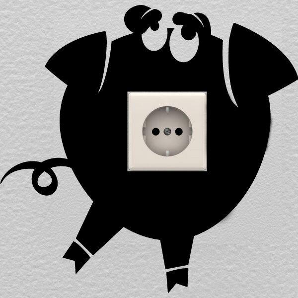 『摩達客』法國Ambiance 搞笑豬 家飾設計壁貼