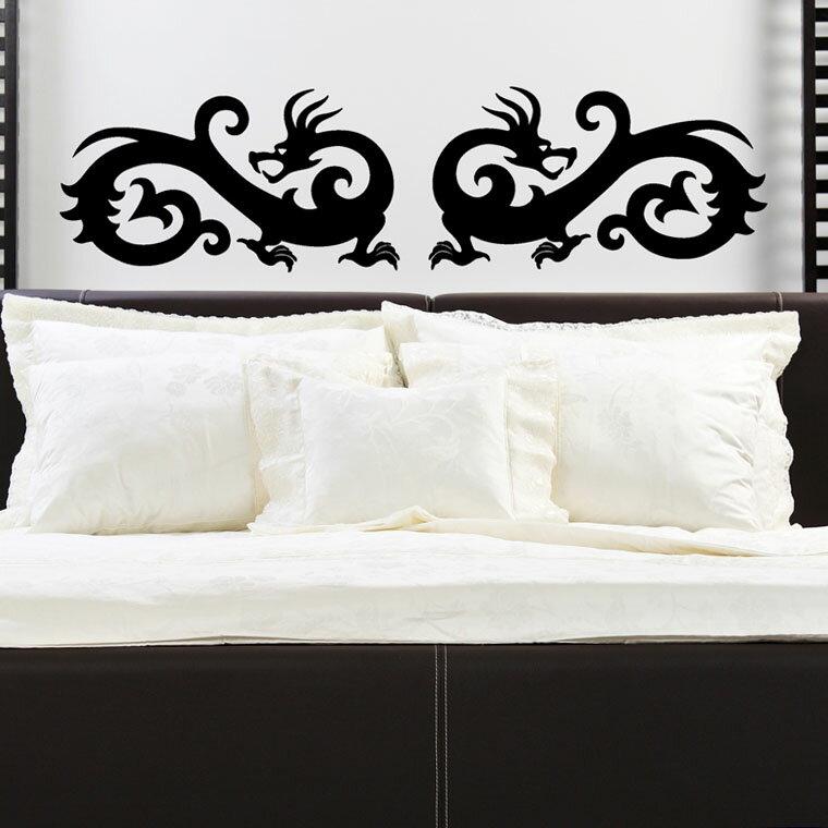 『摩達客』法國Ambiance 對龍 家飾設計壁貼
