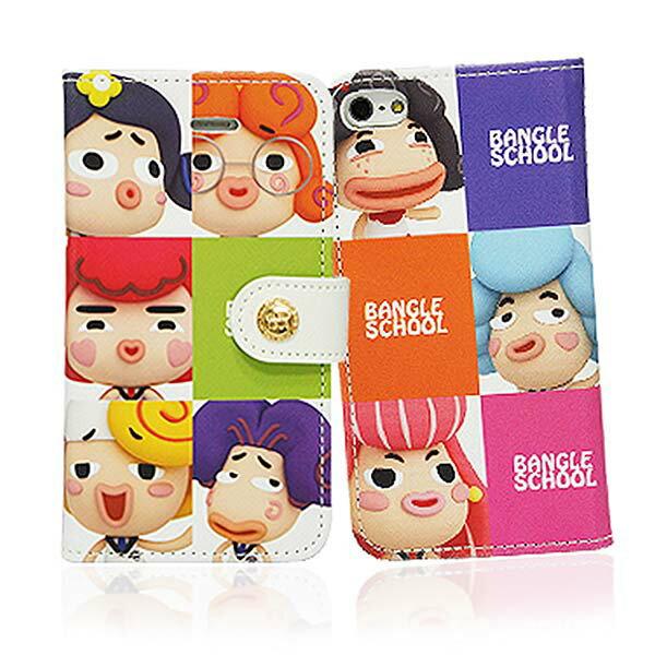 『摩達客』iPhone5手機皮套韓國Fabulous進口【Bangle School】麻吉好友方格彩色