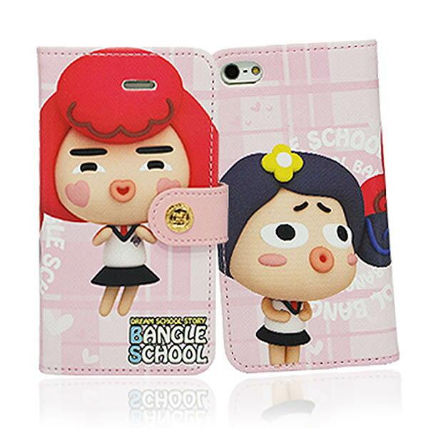 『摩達客』iPhone5手機皮套韓國Fabulous進口【Bangle School】麻吉Yola & Judy粉紅