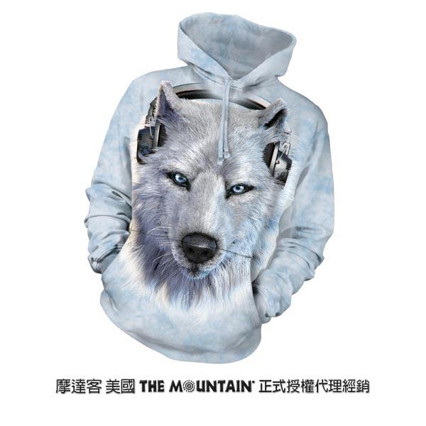 『摩達客』(預購)美國進口【The Mountain】DJ白狼 長袖連帽T恤