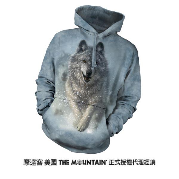 『摩達客』(預購)美國進口【The Mountain】雪狼開路 長袖連帽T恤