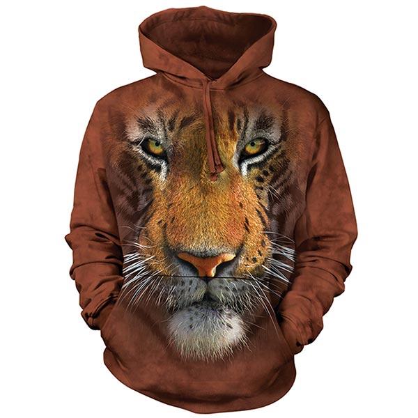 『摩達客』(現貨)美國進口【The Mountain】虎臉 長袖連帽T恤