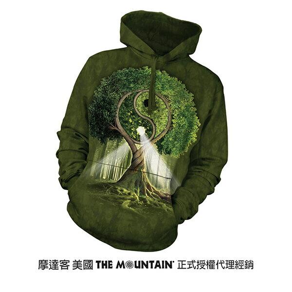 『摩達客』(預購)美國進口【The Mountain】 陰陽村  長袖連帽T恤