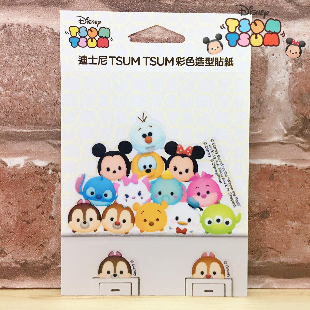 【唯愛日本】17062300009 迪士尼開關貼-TSUM綜合 迪士尼 奇奇蒂蒂雪寶瑪莉貓米妮 裝飾貼紙 居家生活