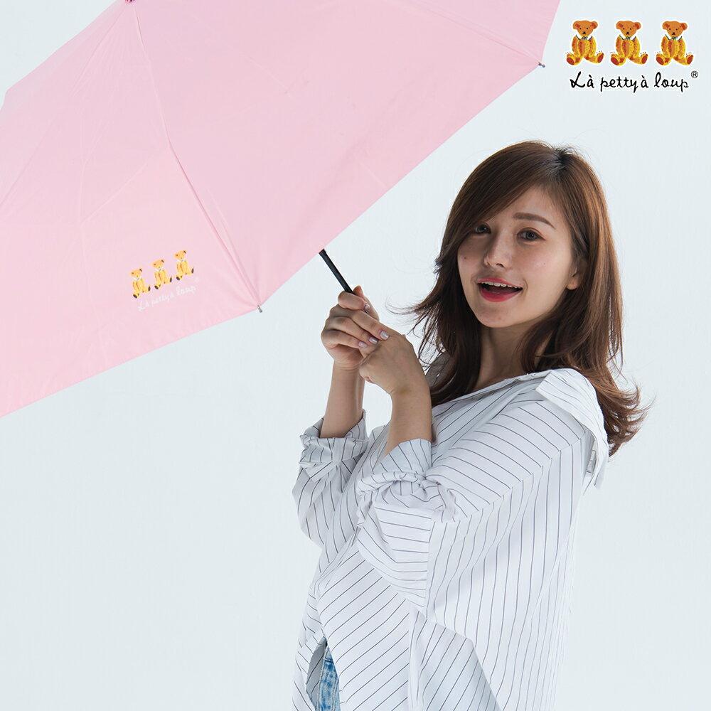 三隻小熊 黑膠鑽石秒收傘 晴雨傘 防風 抗UV 8