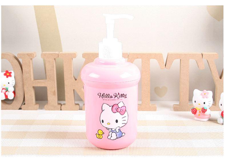 X射線~C090038~Hello Kitty 粉色沐浴乳空罐~素描風,補充空瓶  沐浴罐