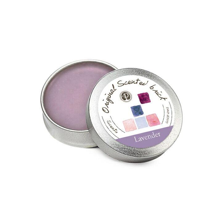 Lavender 薰衣草園 精油芳塊香磚-12±2g 隨身盒,純手工製作【OP 窩居小徑】