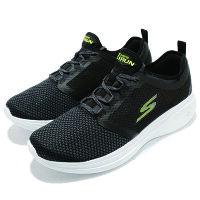 男性慢跑鞋到【SKECHERS】GO RUN FAST 慢跑鞋 黑色 男鞋 -55102BKLM就在動力城市推薦男性慢跑鞋