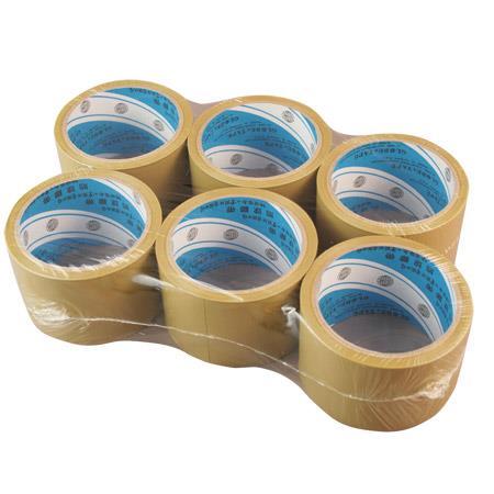 地球 大管芯布紋PVC包裝膠帶 60mmx12M X6卷