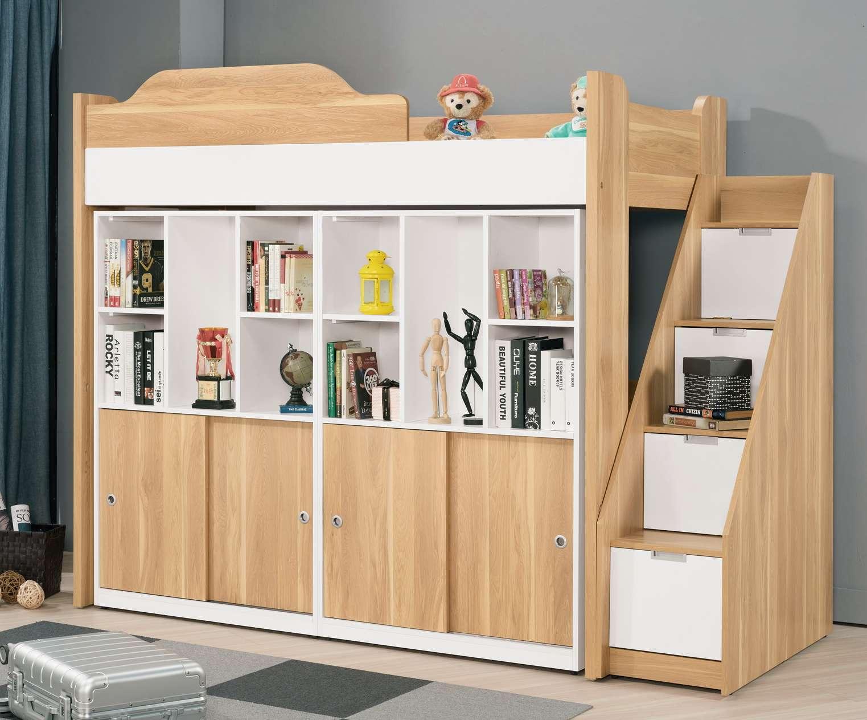 【簡單家具】,G697-1 卡爾3.7尺多功能挑高組合床組,大台北都會區免運費