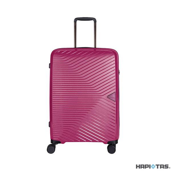 【加賀皮件】CROWN皇冠HAPI+TAS輕量多色PP拉鍊箱旅行箱25吋行李箱HAP2082