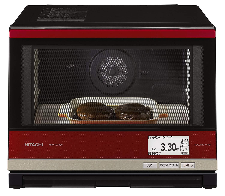 全新日本公司貨 日本製 HITACHI 日立 MRO-SV3000 水波爐 33L 過熱水蒸氣烤箱 蒸 煮 烤 微波 烤箱 烘烤 燒烤自動料理食譜 日本必買代購