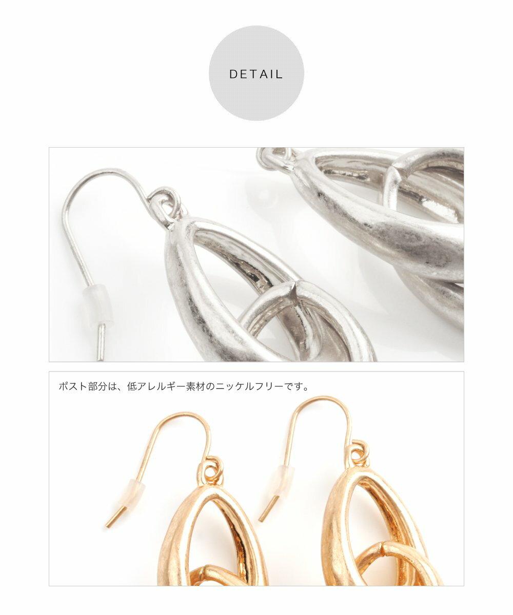日本CREAM DOT  /  ピアス 金属アレルギー ニッケルフリー ヴィンテージ調 大ぶり 加工 メタル ゴールド シルバー お呼ばれ アクセサリー 上品 シンプル デイリー カジュアル 女性 大人 レディース  /  qc0412  /  日本必買 日本樂天直送(1690) 5